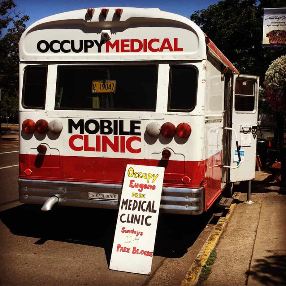 Serving with Occupy Medical in Eugene Oregon.